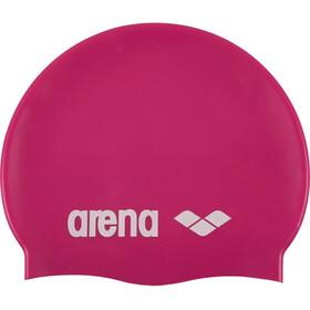 arena Classic Silicone Cap fuchsia-white